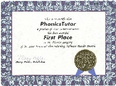 Award for word families phonics software.